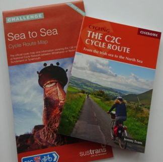 C2C Sustrans map and Cicerone guide book