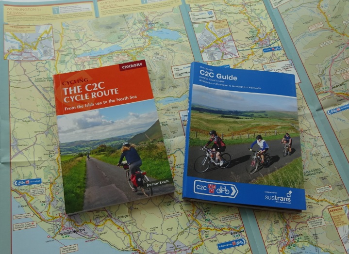 C2C cycle maps and cycle touring guide books