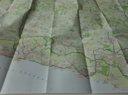 Central Sussex and South Surrey Sustrans map