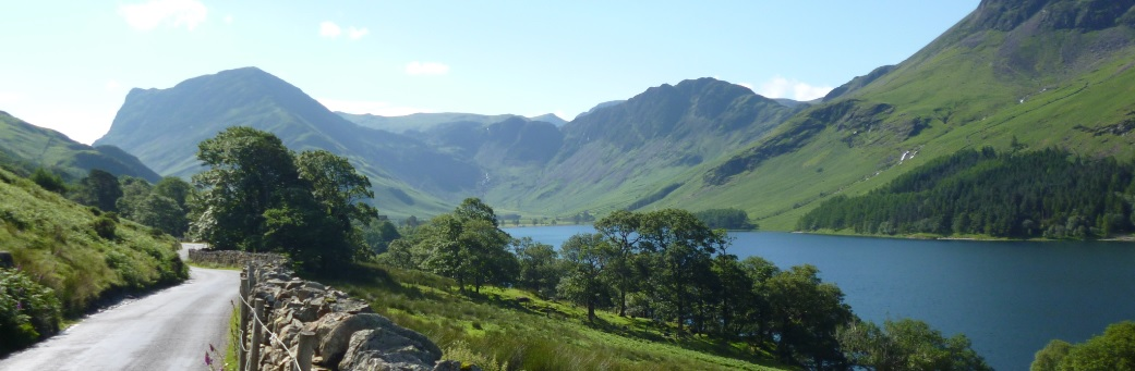 Cycling past Buttermere