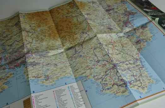 UK cycle maps and guide books - South West England