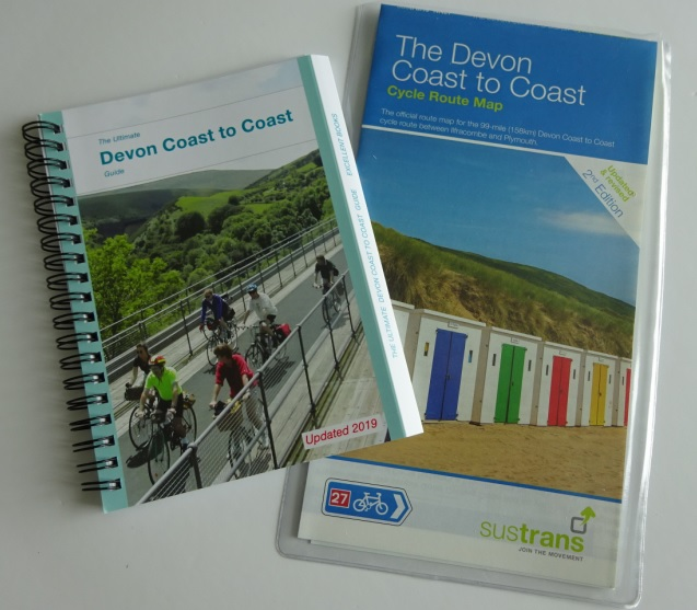 Devon coast to coast cycle maps and guide book