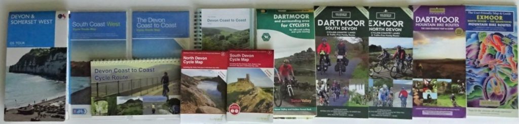 Where to cycle in Devon? The maps and guide books available.