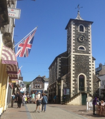 Keswick, one of the cycle touring hubs in the Lake District