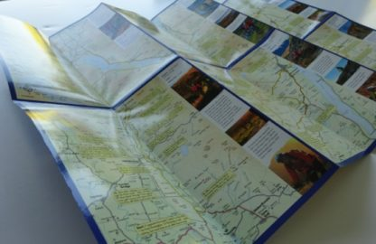 Lake District Mountain Bike Map opened out