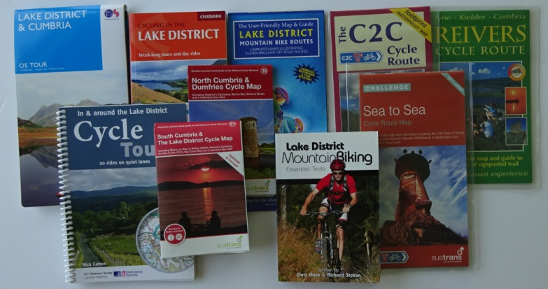 Where to cycle in the Lake District and Cumbria? The maps and guide books available.