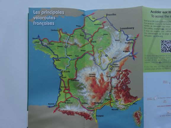 Greenways and Cycle Routes of France - major routes