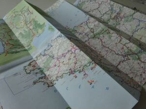 Greenways and Cycle Routes of France - sample page