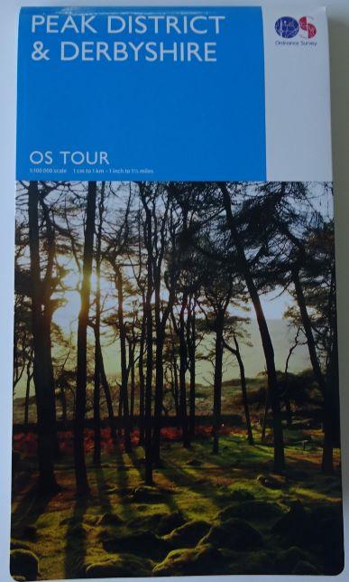 Peak District Ordnance Survey Tour map