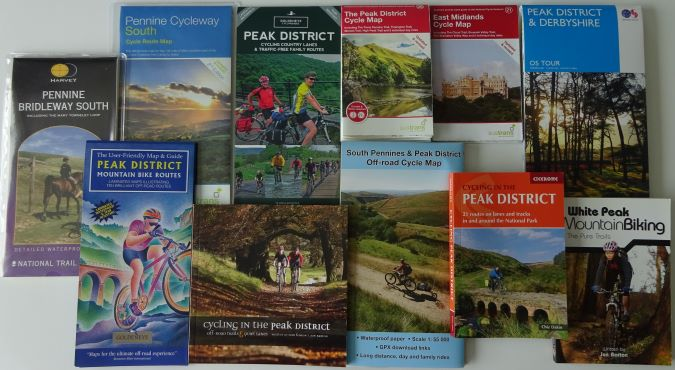 Derbyshire and Peak District cycle maps and guide books
