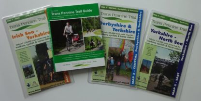 Trans Pennine Trail map and guide book set