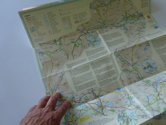 Harvey's Yorkshire Dales Cycle Way map