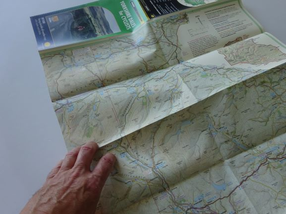 Harvey's Yorkshire Dales for Cyclists map