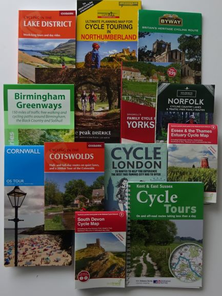 County cycle route maps and guide books of England