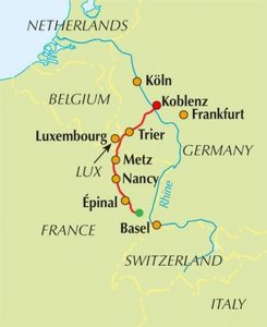 Moselle Cycle Route - the route