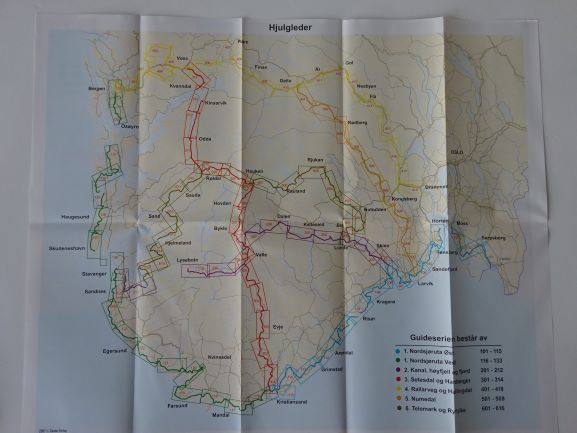 Norway map routes from Castor Forlag