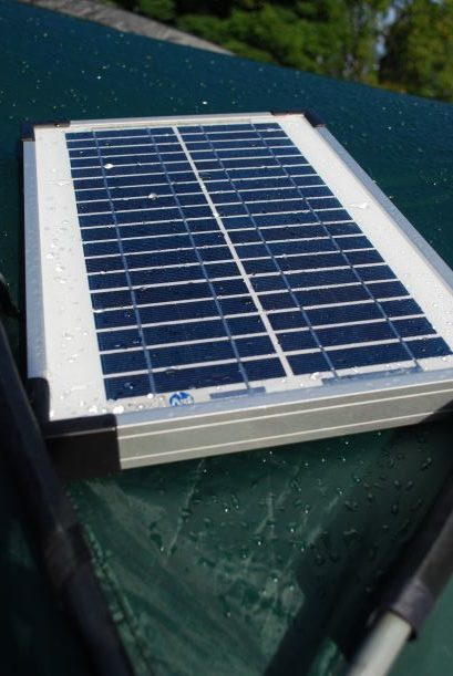 Solar panels can be helpful but are best on long sunny days!