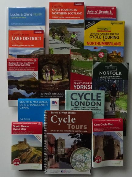 UK cycle maps and guide books by region