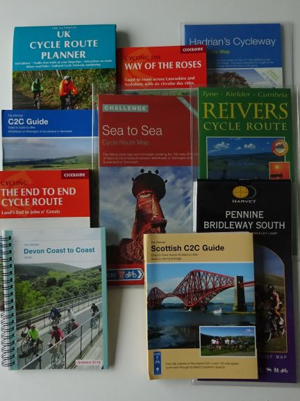 Long-distance cycle route maps and guide books for the UK - coast to coast and more