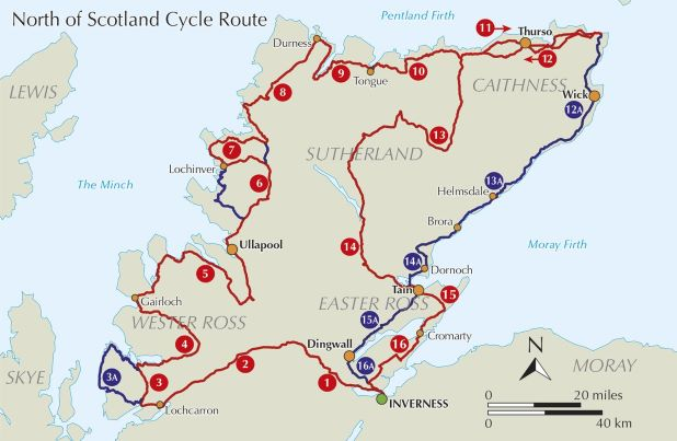 Cycle Touring in Northern Scotland - routes