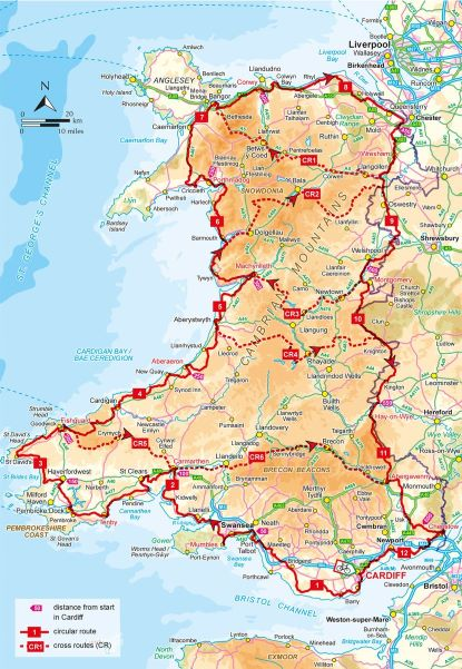 Cycle Touring in Wales - routes