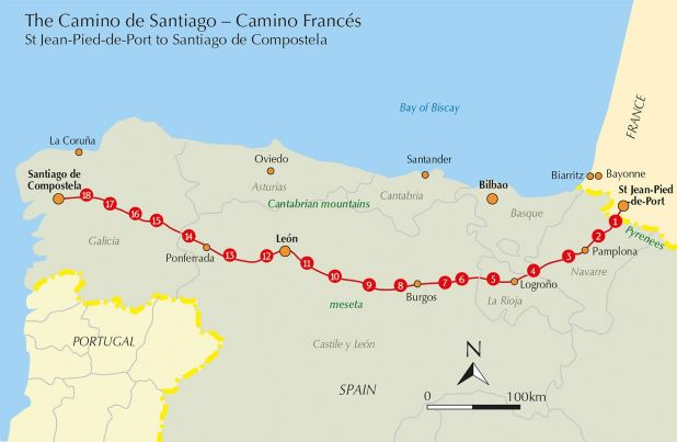 Cycling the Camino de Santiago - the route