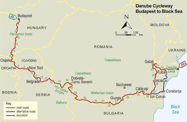 Danube Cycleway Vol 2 route