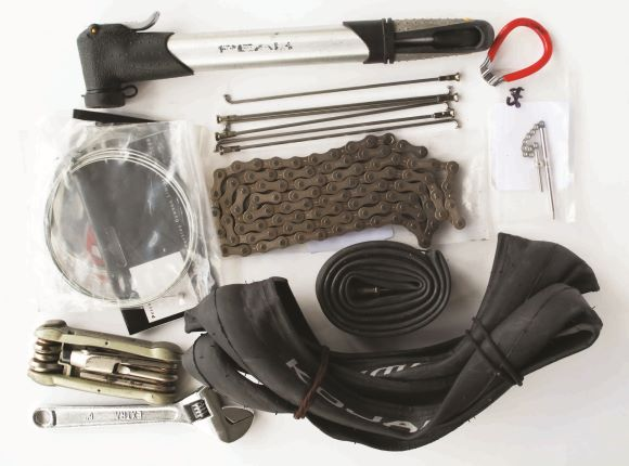 Emergency Repair Kit Tailored for Long Distance Touring on a Brompton