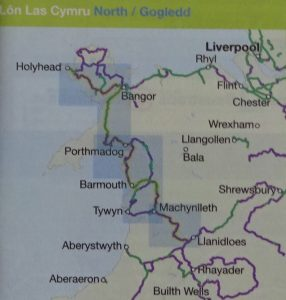 Lon Las Cymru North Sustrans Map - the route