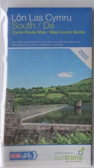 Lon Las Cymru South Sustrans Map