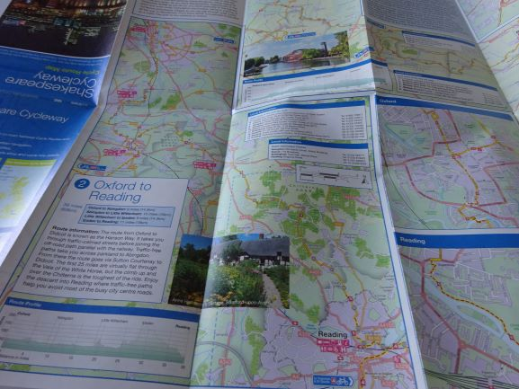 Shakespeare Cycleway Sustrans map