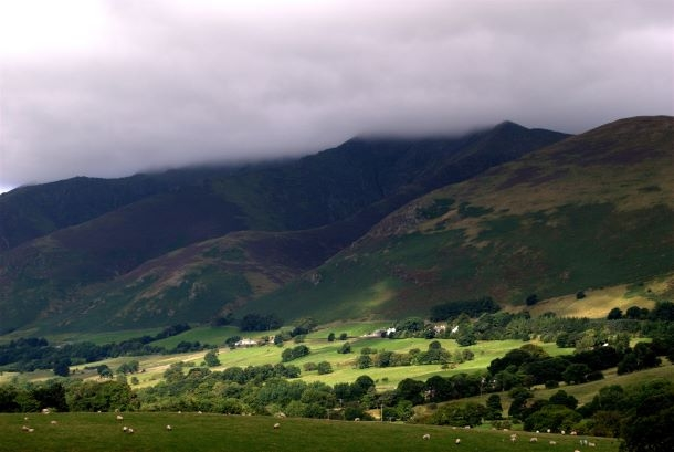 Views of the iconic Skiddaw and Blencathra fells in the Lake District