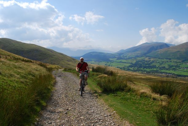 The Old Coach Road east of Keswick - a challenging off-road option