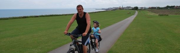 Cycling along Bridlngton sea front