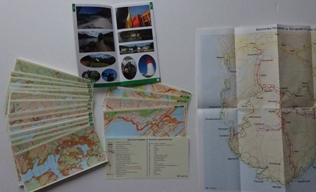 Norway - North Sea Cycle Route West in Norwegian set