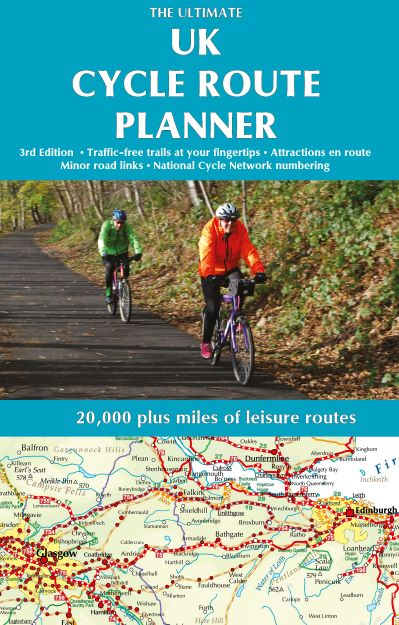 Long distance cycle touring routes shown in the Ultimate UK Cycle Route Planner