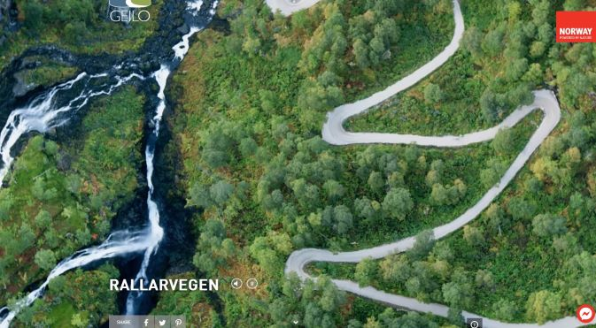 The Visit Norway website - watch the Rallarvegen video!