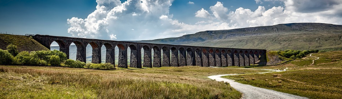 "The Ribblehead Viaduct from the blog post ""Cycling in the Yorkshire Dales"""