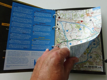 North and South Downs Mountain Bike Rides - sample pages