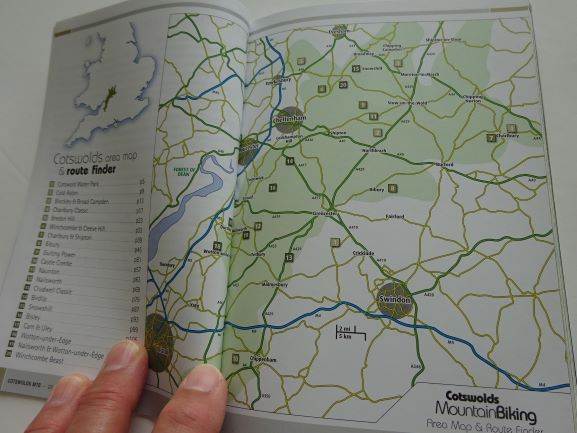 Cotswolds Mountain Biking guide book from Vertebrate - routes