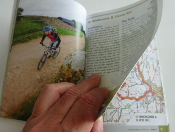 Cotswolds Mountain Biking guide book from Vertebrate - sample page