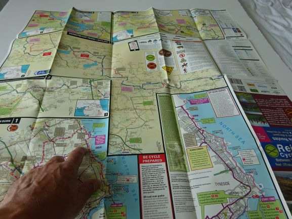 Reivers Cycle Route Maps - Northern Heritage - eastern side