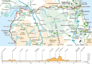 Hadrian's Cycleway route
