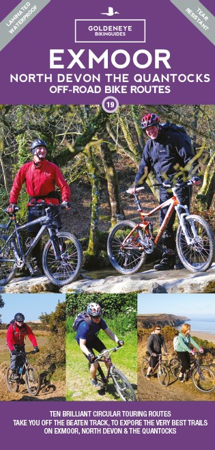 Exmoor North Devon and Quantocks Off-Road Bike Routes Goldeneye Map