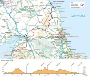 Cycling the Reivers Route Cicerone Guide Book - the route