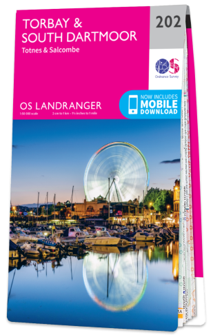 OS Landranger Torbay and South Dartmoor 202